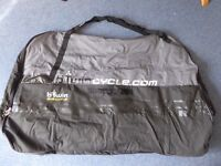 Bike transport cover and carrier bag. Ideal for car or train.