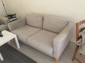 2 cream IKEA sofas for free