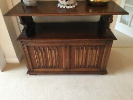 Vintage oak Monk's bench /settle by L. Marcus Ltd