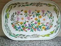 Vintage Trays flower pattern