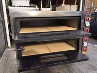 SECOND HAND SERVICED PIZZA OVEN CATERING COMMERCIAL DOUBLE DECK RESTAURANT FAST FOOD KEBAB BBQ SHOP