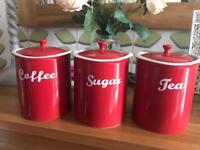 Coffee, Sugar and Tea canisters