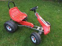 Childrens Red Pedal Go Kart