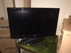 Large TV with remote
