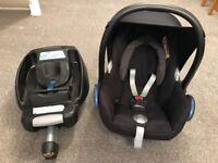 Maxi Cosi Cabriofix Car Seat and Easyfix Isofix Base