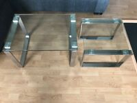 AS NEW John Lewis glass coffee tables - nesting pair £120