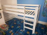 Mid sleeper bed, bunk bed, single