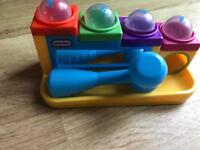 Kid/toddler toy colours, numbers, sensory hammer balls