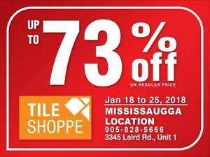 TILE SHOPPE CONCORD SALE (Up to 73% off on regular price) Marble,Porcelain,Ceramic,Laminate,Hardwood,Engineered wood