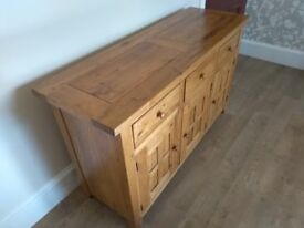 Amazing solid oak sideboard. Large. Fantastic quality