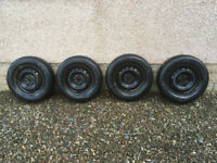 4 x Toyota Yaris Wheels with Winter Tyres