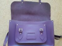 "Purple 14"" Cambridge Satchel"