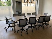 Contemporary Boardroom, Meeting, Conference, Office Table (seats up to 10 persons)