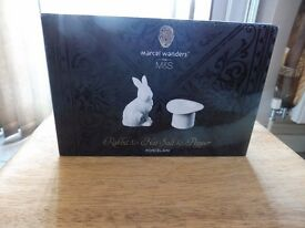 Mercal Wenders Bird butter dish and Rabbit and Hat salt and pepper from M & S