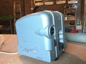 Cine film projector, screen and accessories