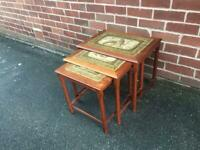 Vintage Teak Coffee Tables Danish TOFTEN Mid Century Retro Tile Top RARE