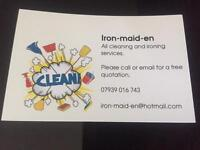 Cleaning and Ironing service.