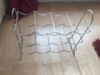 Silver metal bottle/wine rack