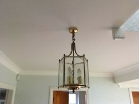 Lights - collection of 4 gold finish ceiling lights