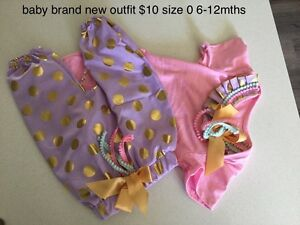 Brand new never worn cute pink purple gold 2 piece girls outfit Ellenbrook Swan Area Preview