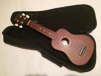 Stagg ukulele and case