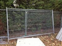 Herras fencing security panels x2 shed chicken coop dog run avairy site