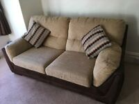 Bargain suite! 3 seater sofa and 2 seater sofa bed for sale