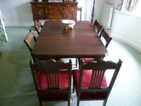 Victorian oak dining table seats up to 8