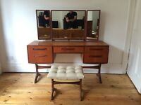 Vintage G Plan Fresco Dressing Table and Stool Mid Century Amazing Condition