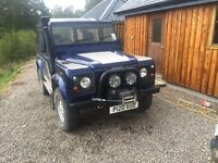 Great Land Rover Defender 90 with new galvanised chassis