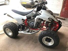 Yamaha raptor 350 2005 on road with v5 and mot