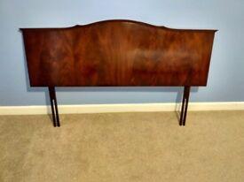 Mahogany wooden double headboard