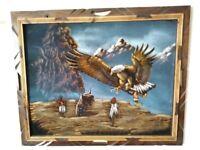 Sanchez Native American Painting Oil on Velvet