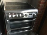 Hotpoint electric cooker HUE61GS (with double oven) excellent condition
