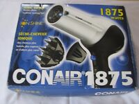 *NEW* Conair Ion Shine 1875 Hair Dryer With Diffuser - Perfect for USA Trips - New and Never Used