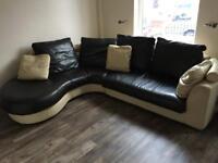 Full leather Corner sofa