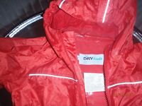 Dry Kids Childs Waterproof Rainsuit, All in One Dry Suit for Outdoor Play, Age 2, Great Condition