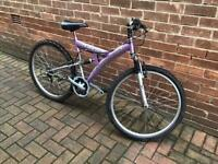 Falcon Mountain bike ladies or girls full suspension
