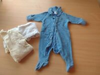 Terrytowling long sleeve suits x 3 - Newborn