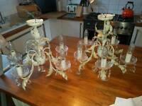 2 working chandeliers