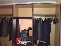 Brown/Beige hybrid Bedroom cupboards for sale - £50.00 (screws , doors everything included!)