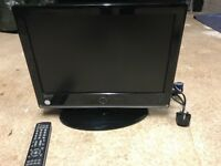 """Logik 19"""" LCD TV Full Working Order & Very Good Condition with Remote Control"""