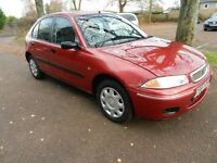 ROVER 200I 1396cc 1999 5 door red 1 owner 48k fullhistory with masses of bills super condition