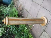 NICE ART DECO BASKET WEAVE LAMP 50 INCHES TALL