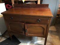 Beautiful old chestnut wooden cupboard
