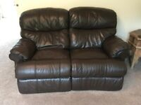 Harvey's Leather 2 seater recliner sofa