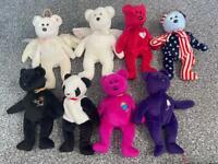 TY Beanies bears bundle x8