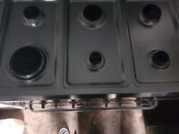 Range cooker silver colour free delivery