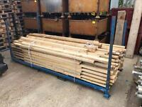 Lengths of heat treated timber 100 lengths approx