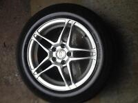 """set of 15"""" Mags and tires  Bolt pattern 5 X 100 Pontiac"""